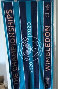 NEW TAGGED LIMITED EDITION OFFICIAL 2020 WIMBLEDON TENNIS TOWEL NO MATCH PLAYED