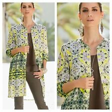 Together Size 10 Geometric Print Longline SHIRT BLOUSE TOP Occasion Party New