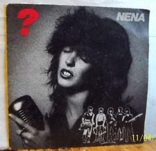 "NENA  Vinyle 45 T  2 Titres  ""  ? Fragezeichen  "" CBS"