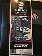"Case-It The Flip Top 3-Ring Binder 2"" Capacity M-276"