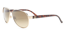 GUCCI Aviator Sunglasses GG 4239/S BOAED Metal Gold White Ivory Brown Gradient