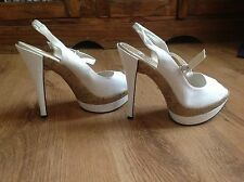 NEW LOOK SEXY WHITE HIGH HEELED PLATFORM PARTY SHOES  BRAND NEW UK 6 EURO 39