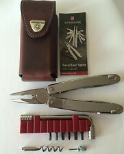 Victorinox Swiss Army Knife, Swisstool Spirit Plus With Leather Pouch 53802, NIB