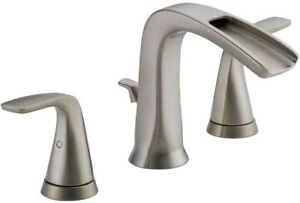 "Delta Tolva 8"" Widespread 2-Handle Bathroom Faucet Stainless 35724LF-SS-ECO"