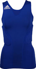 adidas ClimaCool Padded Womens Basketball Vest Tank Top - Blue