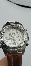 Sector 250 Chrono Alarm Sapphire Crystal Genuine Leather Brown Strap Men's Watch