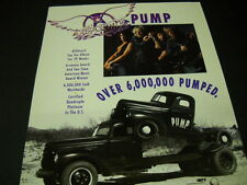 Aerosmith never less than full service rock n roll 1991 Promo Poster Ad mint con
