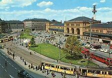 Alte Postkarte - Hannover - Ernst-August-Platz und Hauptbahnhof