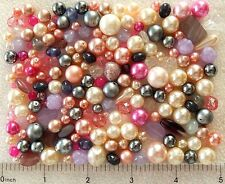 1/4 Lb Pound Glass Pearls Czech Fire Polished Faceted Assorted Boho Mix Beads