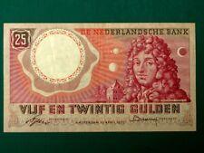 More details for netherlands 25 gulden christian huygens 1955 vf rare