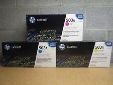 3 New Factory Sealed Genuine HP Q7581A Q7582A Q7583A Laser Cartridges