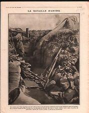 WWI Poilus Tranchée Champagne Periscope Artilleurs de Montagne 1918 ILLUSTRATION