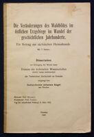Siegel Die Veränderungen des Waldbildes im östl. Erzgebirge im Wandel 1927 sf