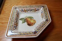 Williams-Sonoma VERGER Tuscan Style Italy Angled Bowl Dish Set of 4 Pear Harvest