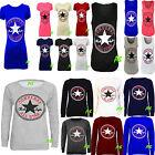 A53 Ladies Womens Converse All Star LogoPrint SweatShirt Jumper Tshirt Vest Top