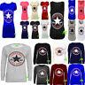 A53 Ladies Womens Converse All Star Logo Print SweatShirt Jumper Tshirt Vest Top