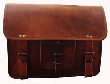 Men's Real Gvb Vintage Leather Messenger Business Laptop Briefcase Satchel Bag