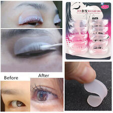 Hot 5Pairs Silicone False Eyelash Extension Shield Pad Curling Perming Kit Apply