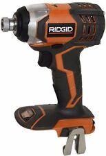 "New Ridgid X4 18 Volt Lithium Ion 1/4"" Impact Driver W/ Belt Clip Model # R86034"