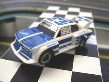 Afx,Aurora,Tomy,Tyco Ho Scale , Bmw 320i Turbo, White W/Blue Stripes, T-Jet