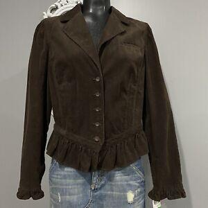 Large - NWT INC INTERNATIONAL CONCEPTS Brown Corduroy Prairie Blazer Jacket