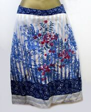 White Stuff Embroidered Skirt 10 Lined Cotton Floral Pencil Summer Festival Boho