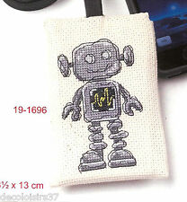 Permin Kit Point de Croix Compté Etui pour Portable Robot-Cross Stitch Kit