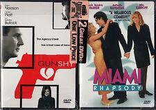 GUN SHY/MIAMI RHAPSODY 2 pack-SANDRA BULLOCK,LIAM NEESON's DEA agent loses nerve
