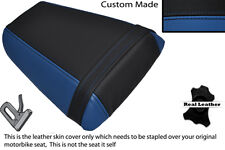 ROYAL BLUE & BLACK CUSTOM FITS HONDA CBR 600 F 01-03 REAR LEATHER SEAT COVER