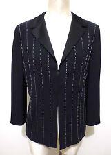 GATTINONI Giacca Donna Smoking Tuxedo Woman Jacket Blazer Sz.L - 46
