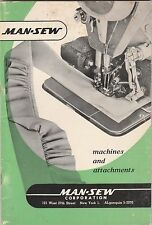 MAN-SEW VINTAGE SEWING MACHINES AND ATTACHMENTS BROCHURE BROCHURE-GREEN