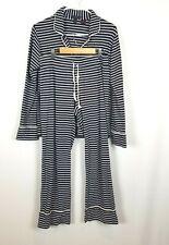 J.Crew Dreamy White/Navy Striped Knit Pajamas Set PM Style # E4282