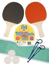 2 Player Table Tennis Ping Pong Set Includes 3 Balls Two Paddle Bats Game Park
