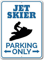 Jet Skier Parking Sign Custom Aluminum Metal Wall Decor Plaque Gift ENSA1002622