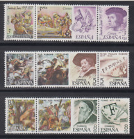 ESPAÑA (1978) SELLOS NUEVOS SIN FIJASELLOS MNH - EDIFIL 2460/68 CENTENARIOS