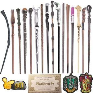 Baguette magique Harry Potter en métal , ans boîte avec accessoire cadeau Malfoy