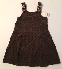 NWT Gymboree Lots of Dots Sz 7 Button Strap Polka Dot Corduroy Jumper Dress