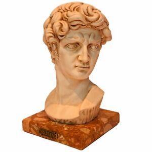 David Michelangelo sculpture bust statue head figurine Roma signed Coruzi Italy