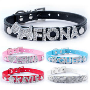 Personalised Dog Collar & Customizable Name Letters for Small Medium Dogs Cats