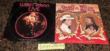 Lot of 2 Willie Nelson LP Vinyl Live - I Gotta Get Drunk & Danny Davis EX Vinyl