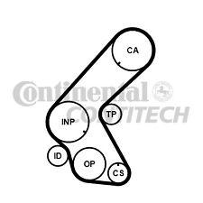 VAUXHALL MERIVA A 1.7D Multi V Drive Belt 03 to 06 Y17DT Gates 1340601 1340662