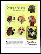 1947 English Setter Pointer Beagle Foxhound black Lab Sportsman vintage print ad