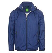 Hugo Boss Blue Large 'jiano' Packable Jacket Coat -