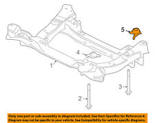 JAGUAR OEM 09-15 XF Front Suspension-Susp Crossmember Nut XR857197