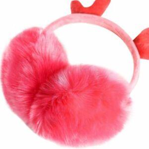 Autumn Winter Christmas Earmuff Cute Velvet Warm Antler Adjustable Earmuffs New