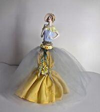 12' Tall Perfume Bottle Vintage 1930s Porcelain German Half Doll Figurine Cork