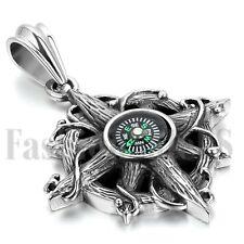 Compass Necklace - Vintage Charm Navigation Nautical Antique Pendant Jewelry New