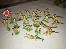 MARX  WWII JAPANESE INFANTRY SOLDIERS SET OF 19 FIGURES PROFESSIONALLY PAINTED