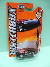 LAMBORGHINI GALLARDO LP 560-4 POLICE MATCHBOX blister US TYPE 1/64 3 INCHES