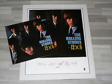 Rolling Stones - 12x5 Clear Vinyl LP + Signed Lithographic, NEU & OVP (96.01)